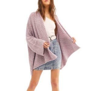 FREE PEOPLE BFF Cardigan NWT Size M Soft Purple